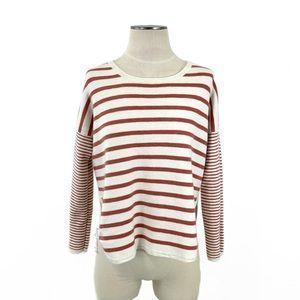 Madewell- Rust & Cream Stripe Sweater Size XS